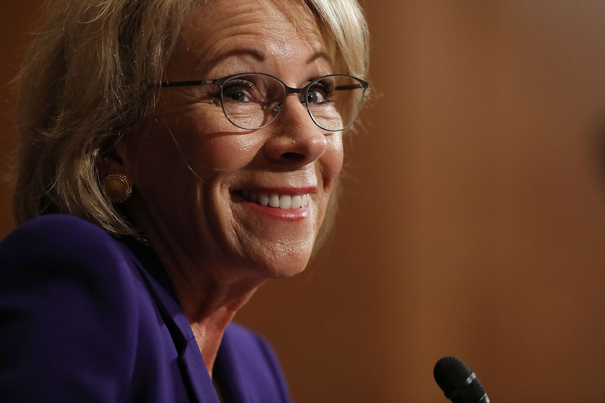 Betsy DeVos Will Dismantle Obama's Campus Sexual Assault Guidelines