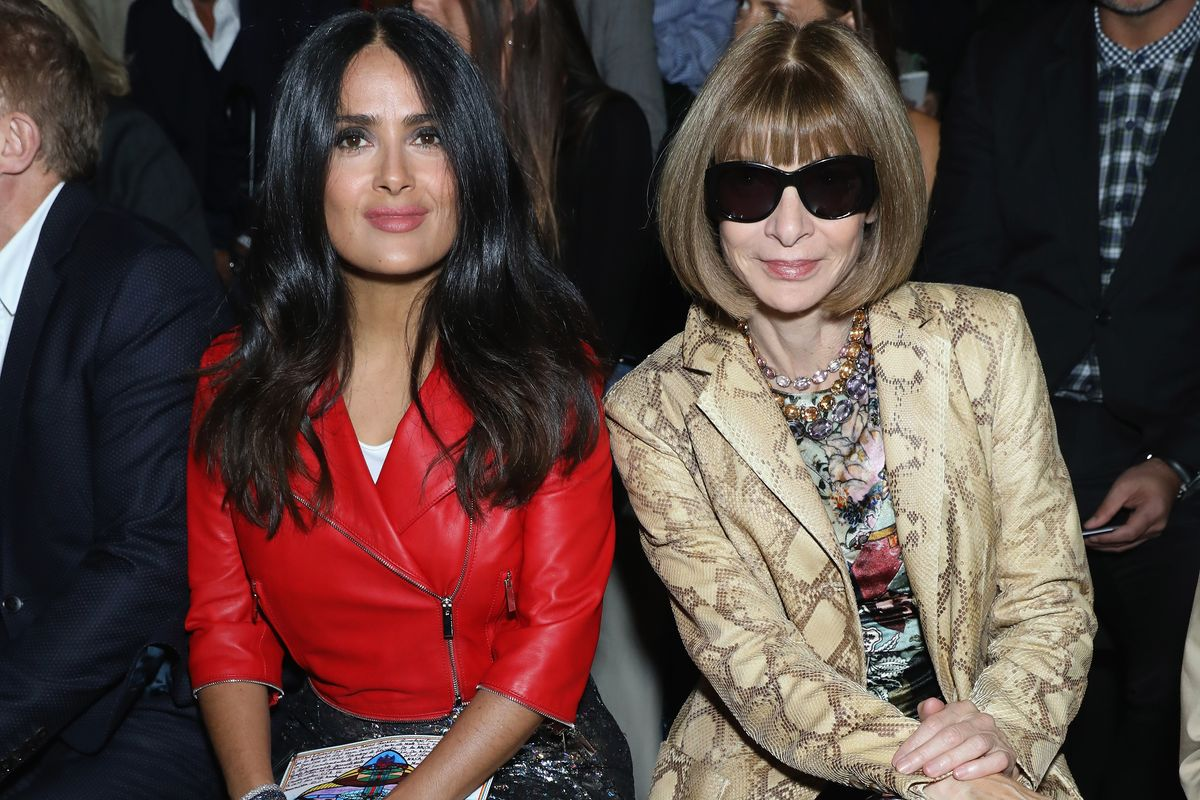 See Salma Hayek, Anna Wintour, and More Sit Front Row on Day 4 of LFW