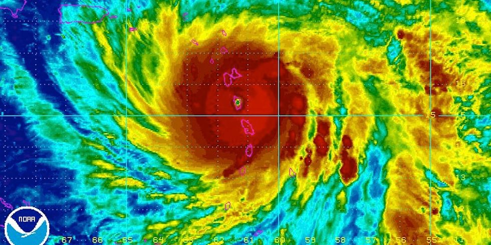 Category 5 Hurricane Maria Causes 'Mind Boggling' Damage to Dominica, on Path to Puerto Rico
