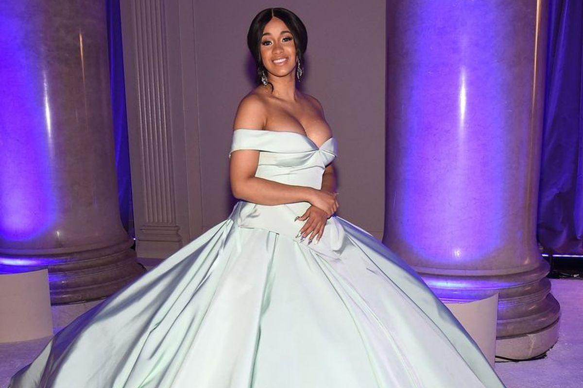 Cardi B Shows Up to Rihanna's Diamond Ball as a Damn Diamond