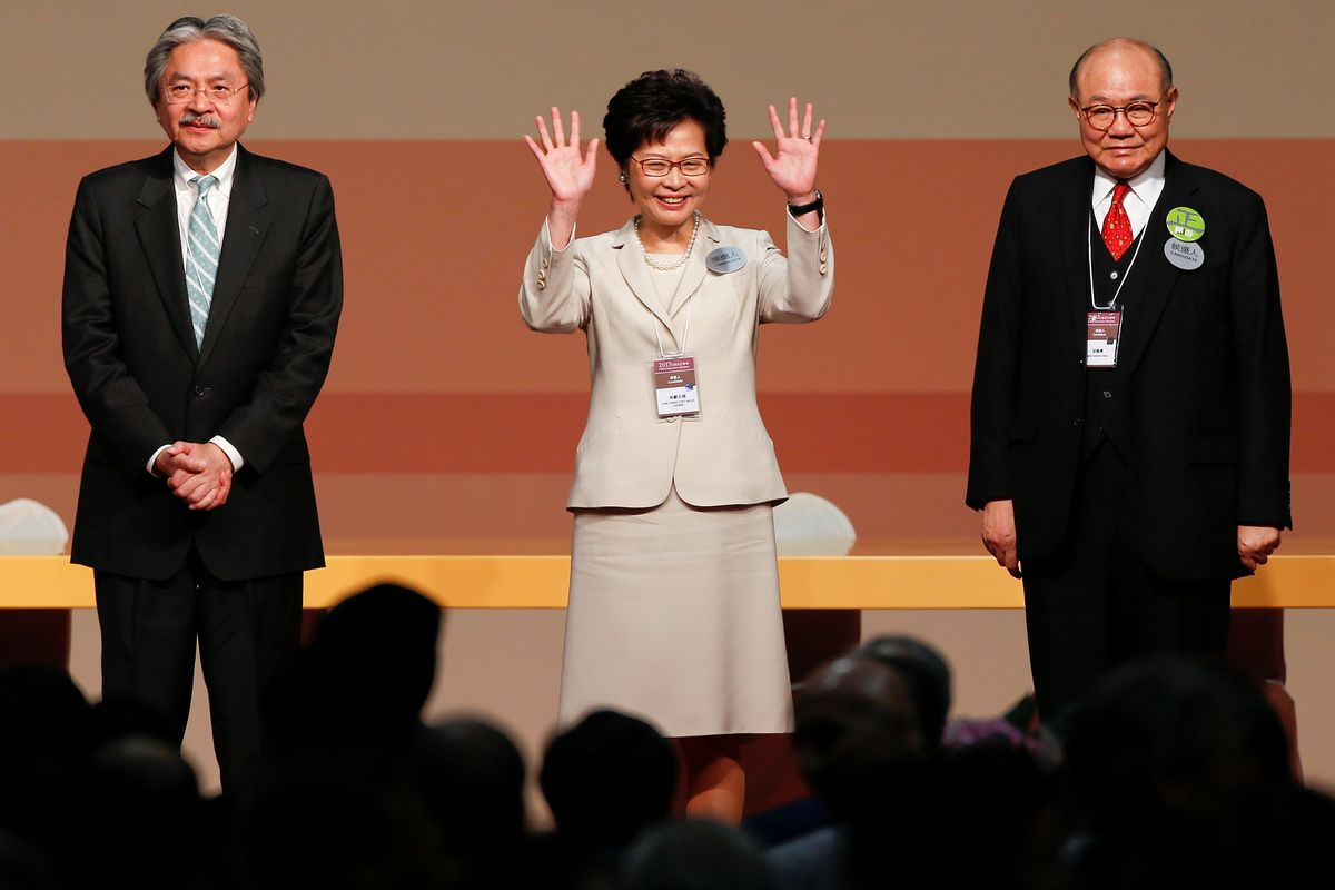 Hong Kong's New Chief Executive Carrie Lam