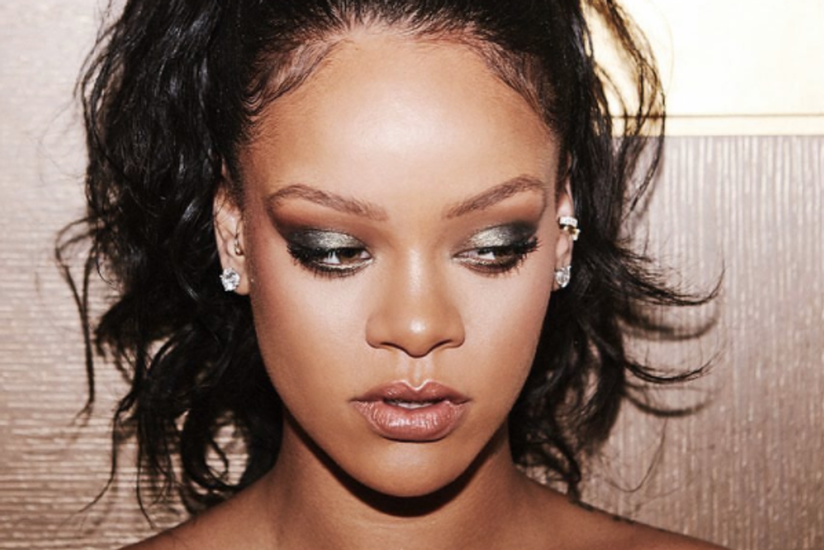"Rihanna Unveils Fenty Beauty Holiday ""Galaxy"" Collection on Instagram"