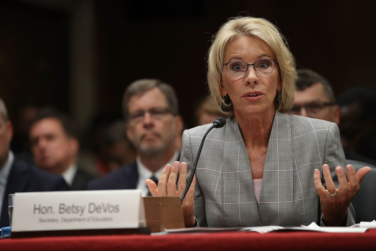 Betsy DeVos Rolls Back Obama-Era Protections of College Sexual Assault Survivors
