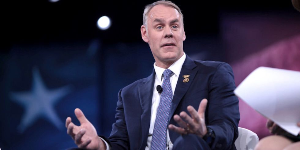 Ryan Zinke Claims One Third of Interior Workforce 'Not Loyal' to Him, Trump and Flag