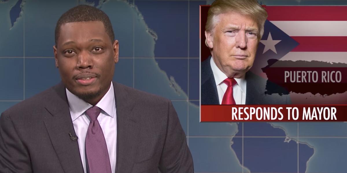 SNL's Michael Che Roasts Donald Trump, Calls Him a Bitch Over Puerto Rico Response