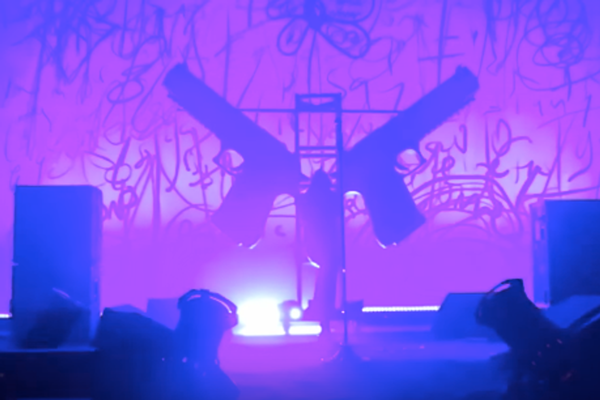 Marilyn Manson Crushed by Stage Scenery