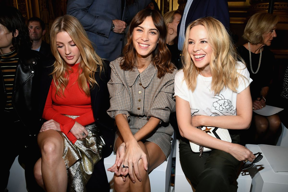 See Ellie Goulding, Jerry Seinfeld (??) Sit Front Row on Paris Fashion Week Day 7