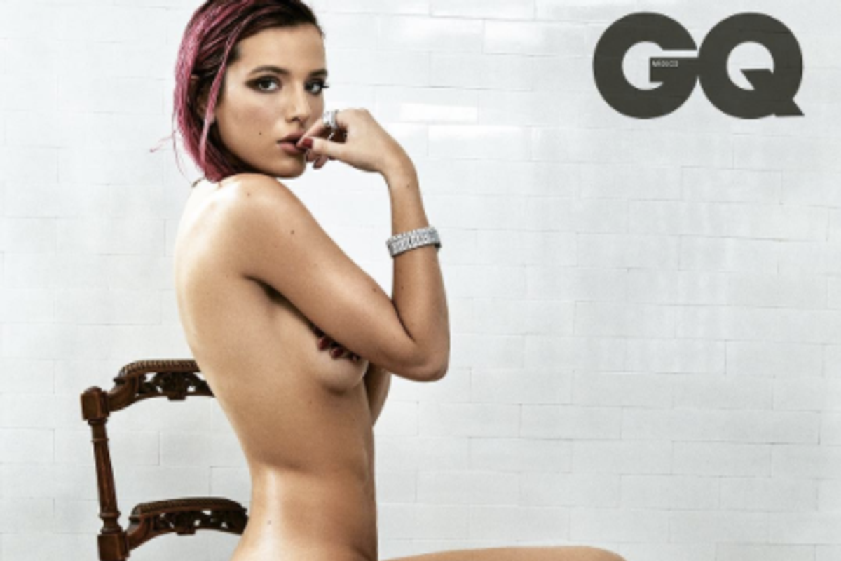 Bella Thorne Poses Nude for GQ Sans Retouching