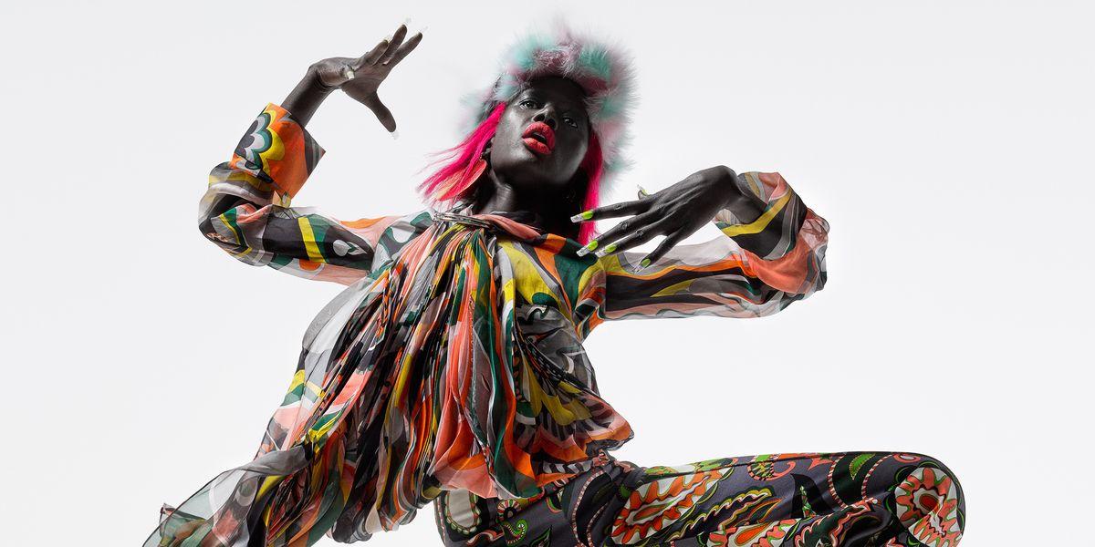 Hue & Me: Ajak Deng In This Season's Neon Technicolor Magic