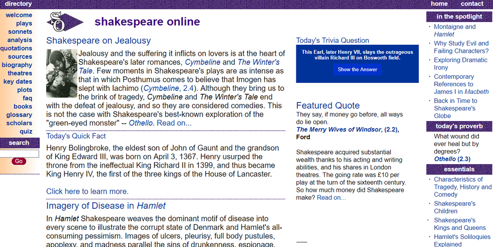 4 Websites To End The Shakespeare Struggle