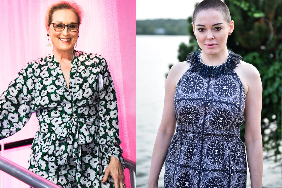"""Rose McGowan and Meryl Streep Called Out Harvey Weinstein and Hollywood's Toxic """"Bro"""" Culture"""