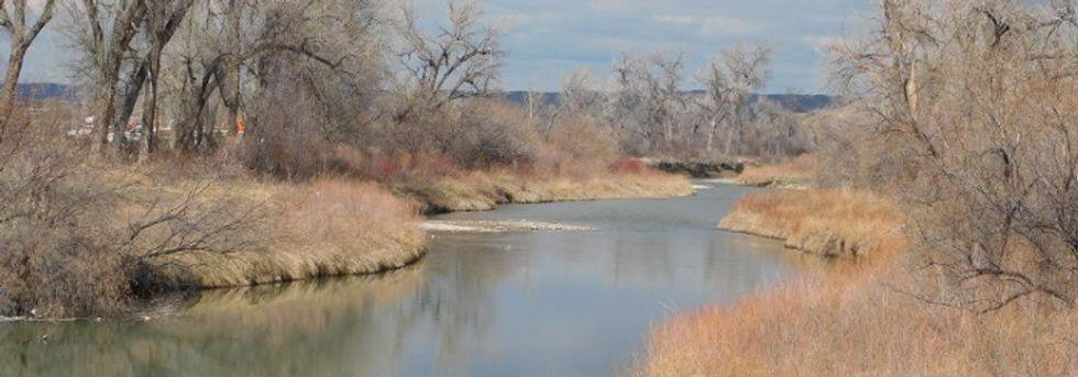 A river near Crow Agency, Montana