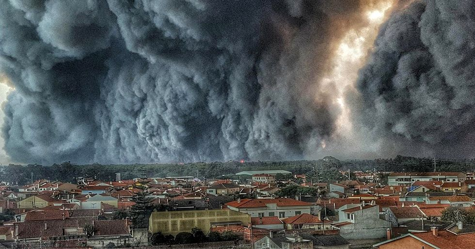 Wildfires Rage Through Portugal and Spain, Kill at Least 39