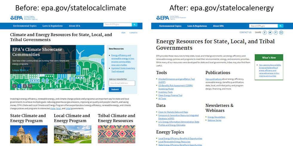 New EPA Climate Change Website Doesn't Mention 'Climate Change'