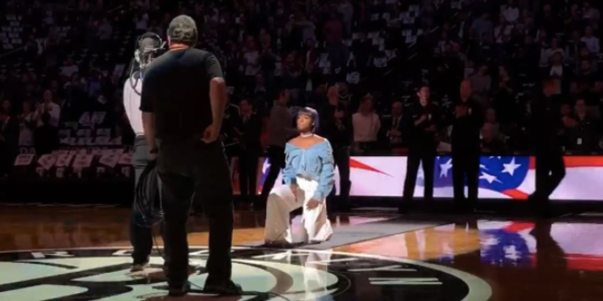 Watch Justine Skye Take a Knee While Singing the National Anthem at the Brooklyn Nets Home Opener