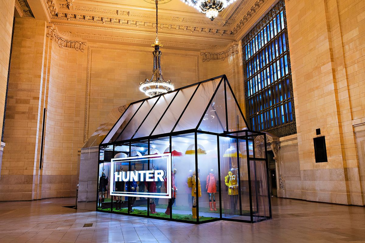 Hunter Boots Made It Rain at Grand Central Station