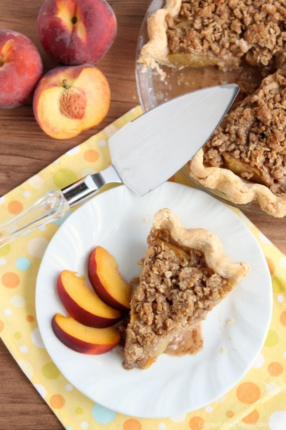 Peach Pie with Streusel Topping