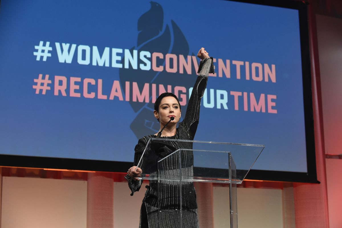 Rose McGowan Opens the Women's Convention with a Powerful Speech