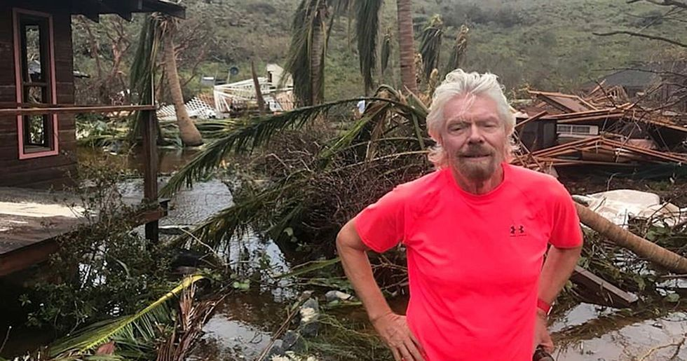 Richard Branson Vowed to Rebuild the Caribbean After Hurricanes Destroyed It