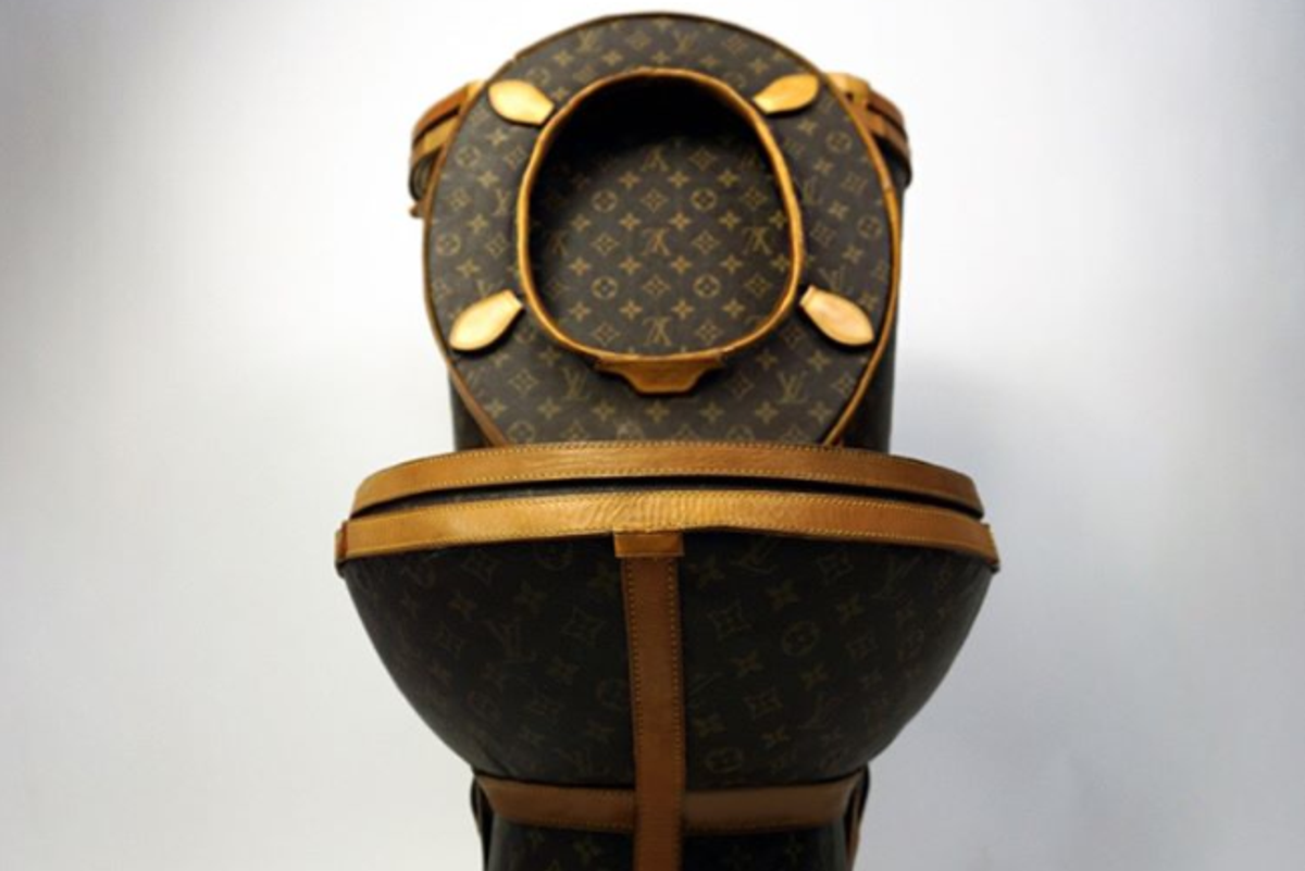 Somebody Made A Toilet Out Of $15k Of Louis Vuitton Bags