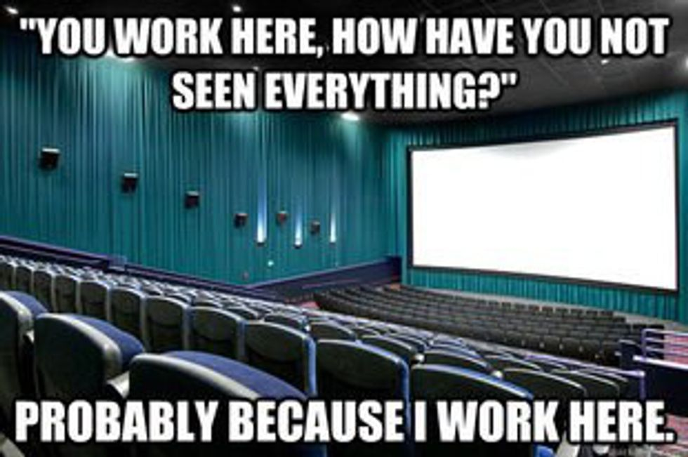 Thoughts From A Movie Theatre Concessionist