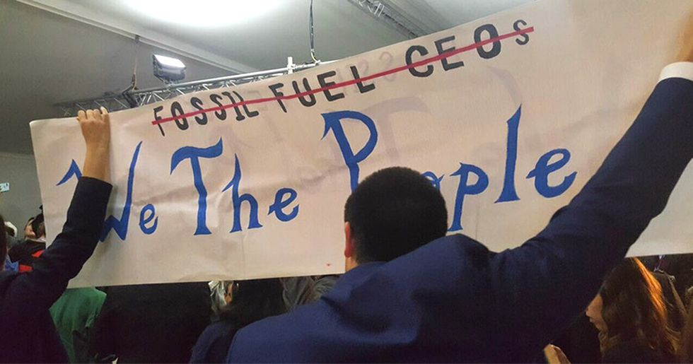 Protestors Halt Trump's 'Clean Fossil Fuels' Panel at COP23, Dismissed as 'Promoting Tobacco at a Cancer Summit'