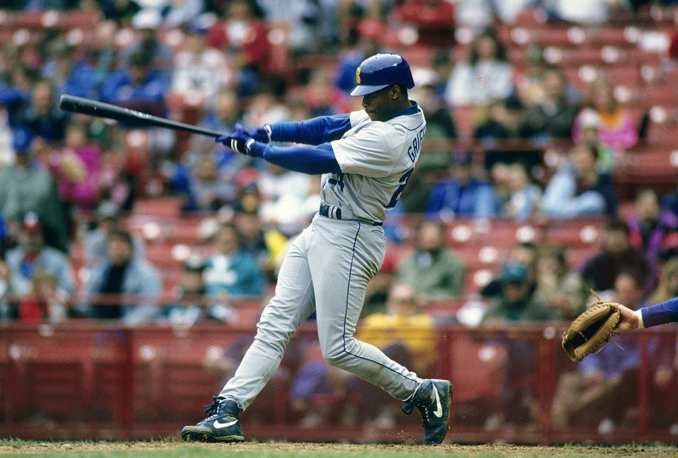 d6bac3d937 Griffey in his 20's was arguably better than anyone we had ever seen play  the game of baseball. He could have retired at the age of 28 and still  would have ...