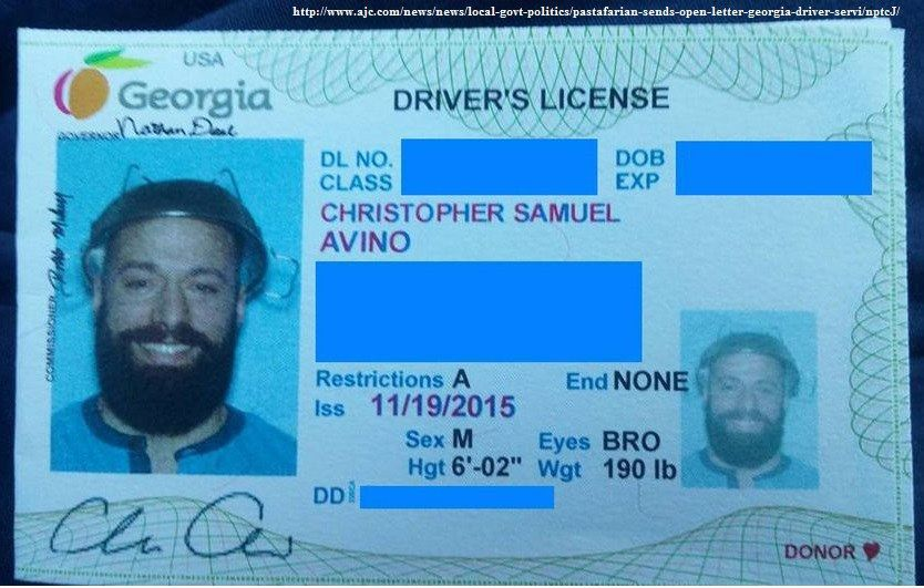 flying spaghetti monster drivers license
