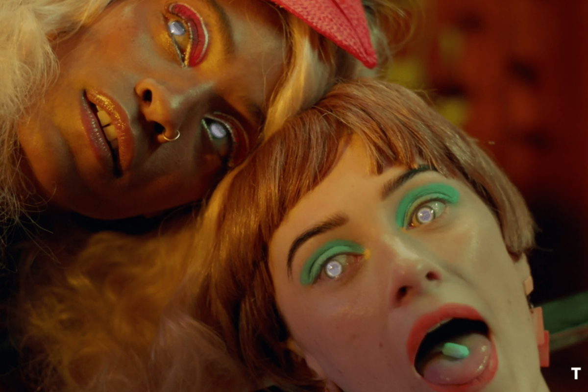 """Meet The Strung-Out Housewives Of The Future In St. Vincent's """"Pills"""" Music Video"""