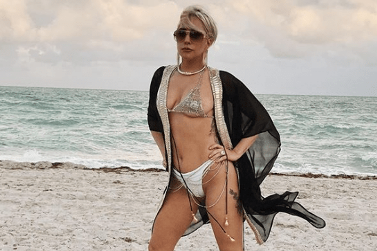 Gaga Wearing Heels to the Beach is None of Us but Still Iconic