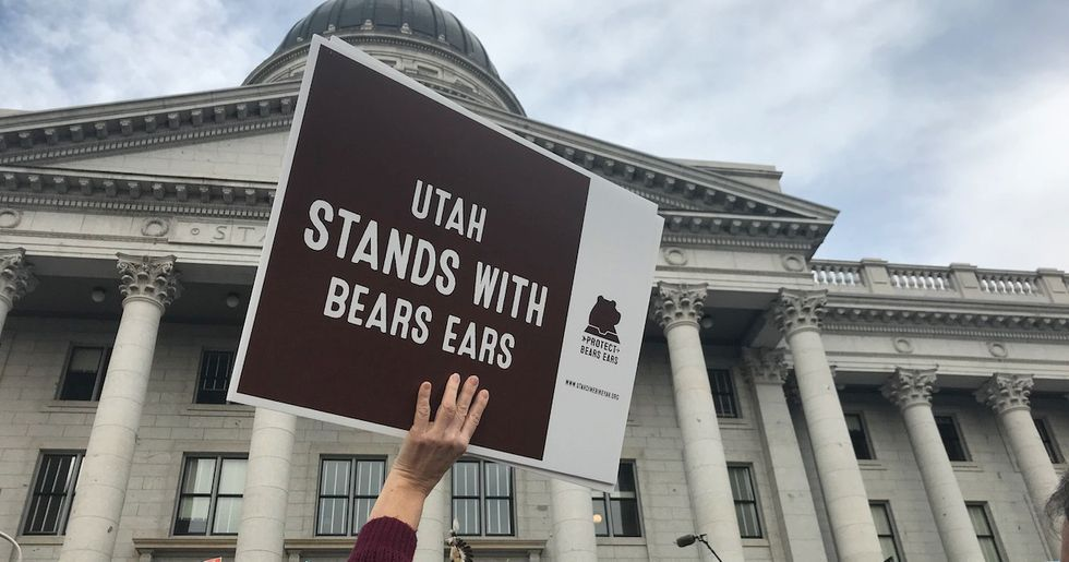 'Theft Of Our Heritage': Thousands Protest Trump's Cuts to Utah's National Monuments