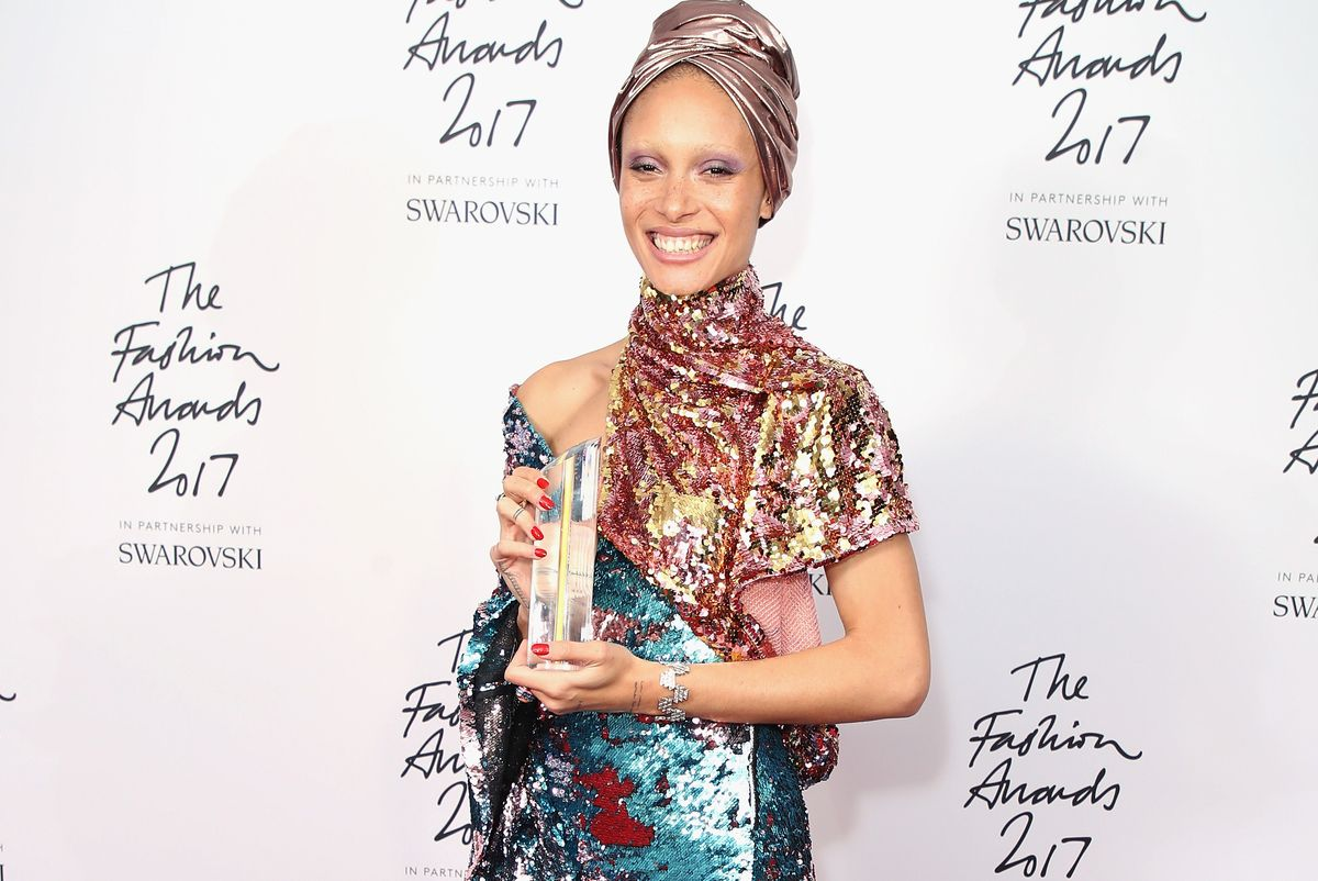 Adwoa Aboah Wins Model of the Year at the 2017 Fashion Awards