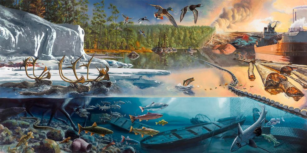 Beauty and Despair Collide in These Murals of the Great Lakes