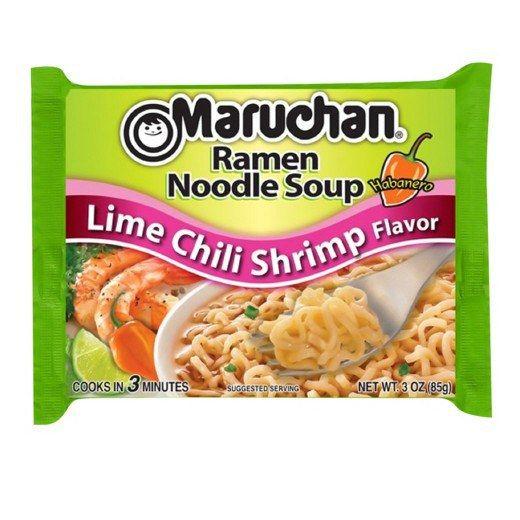 lime chili shrimp ramen