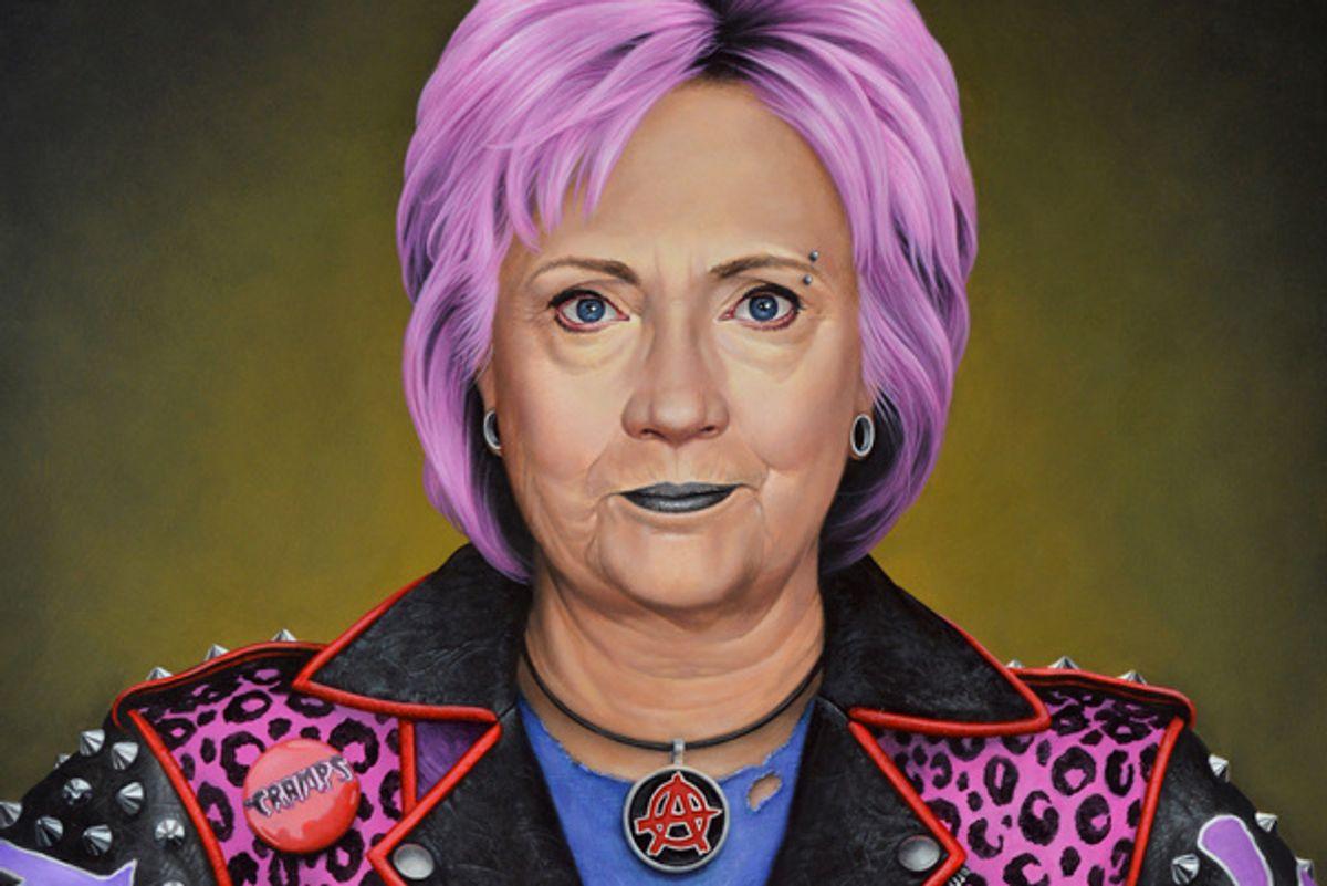 Punk Hillary Clinton Portrait Sets Off Bomb Threat at Art Miami