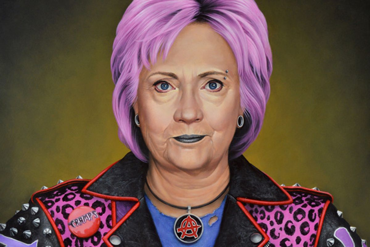 Punk Hillary Clinton Portrait Sets Off Bomb Threat at Art Miami