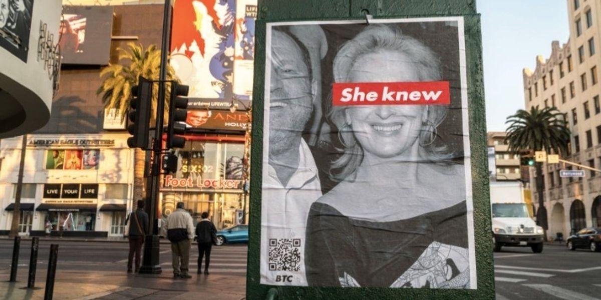 Posters Pop Up Around LA Claiming Meryl Streep Knew About Weinstein
