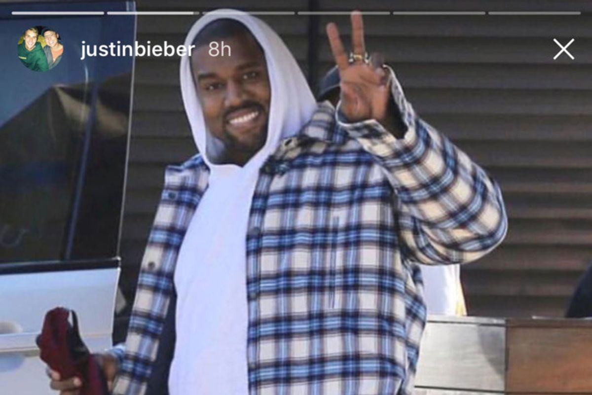 Justin Bieber Found the Meaning of Life in Kanye West's Fit