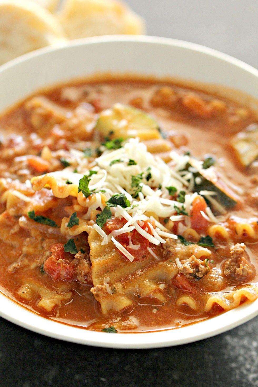 Ground Turkey Sausage Lasagna Soup - My Recipe Magic