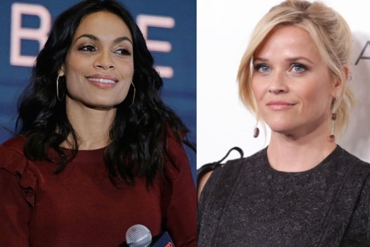 Rosario Dawson, Reese Witherspoon and Eva Longoria Want You to Wear Black, Too