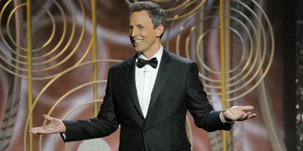 Seth Meyer's Golden Globes Opening Monologue Hit Most of the Marks