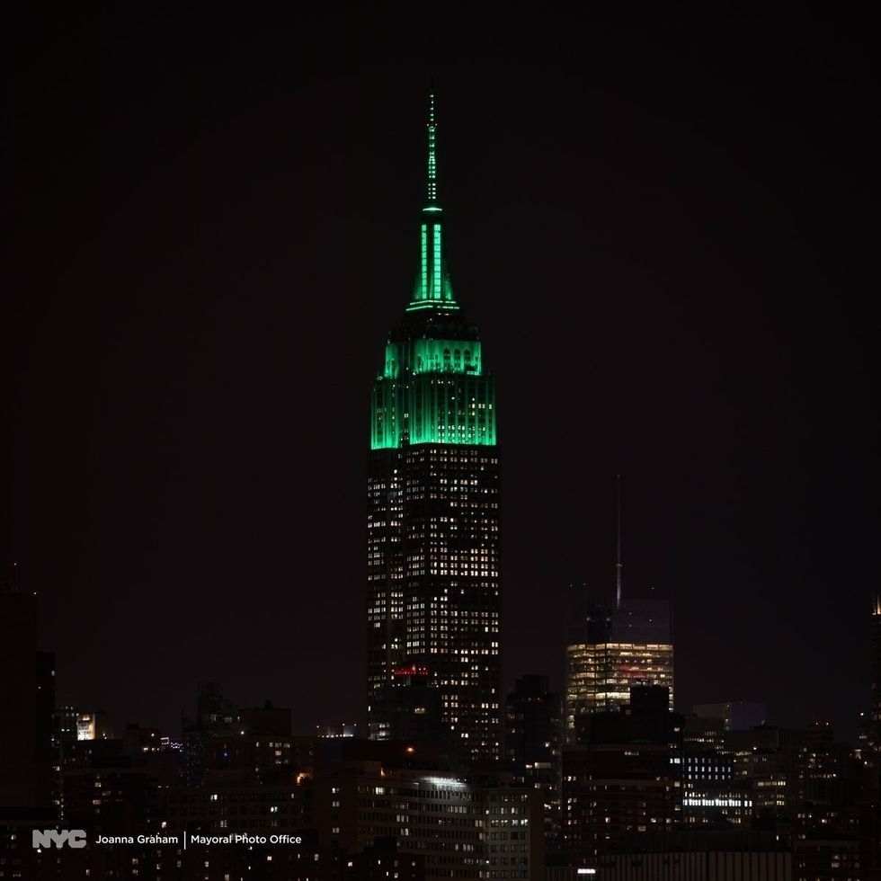 Empire State Building Shines Green After NYC's Decision to Take on Fossil Fuel Industry