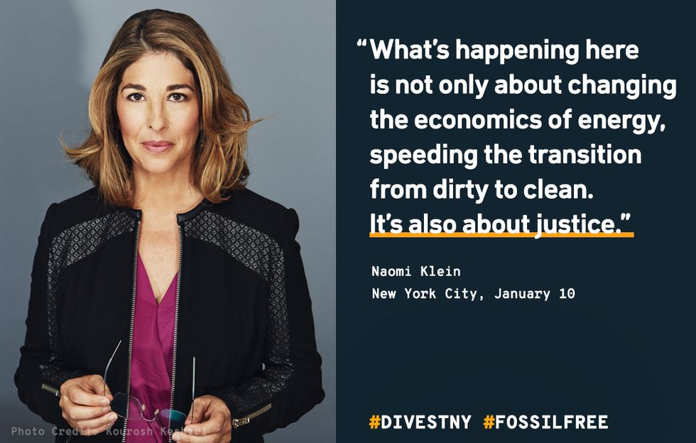 Naomi Klein: 'New York City Is Taking a Game-Changing First Step in Turning the World Right Side Up'