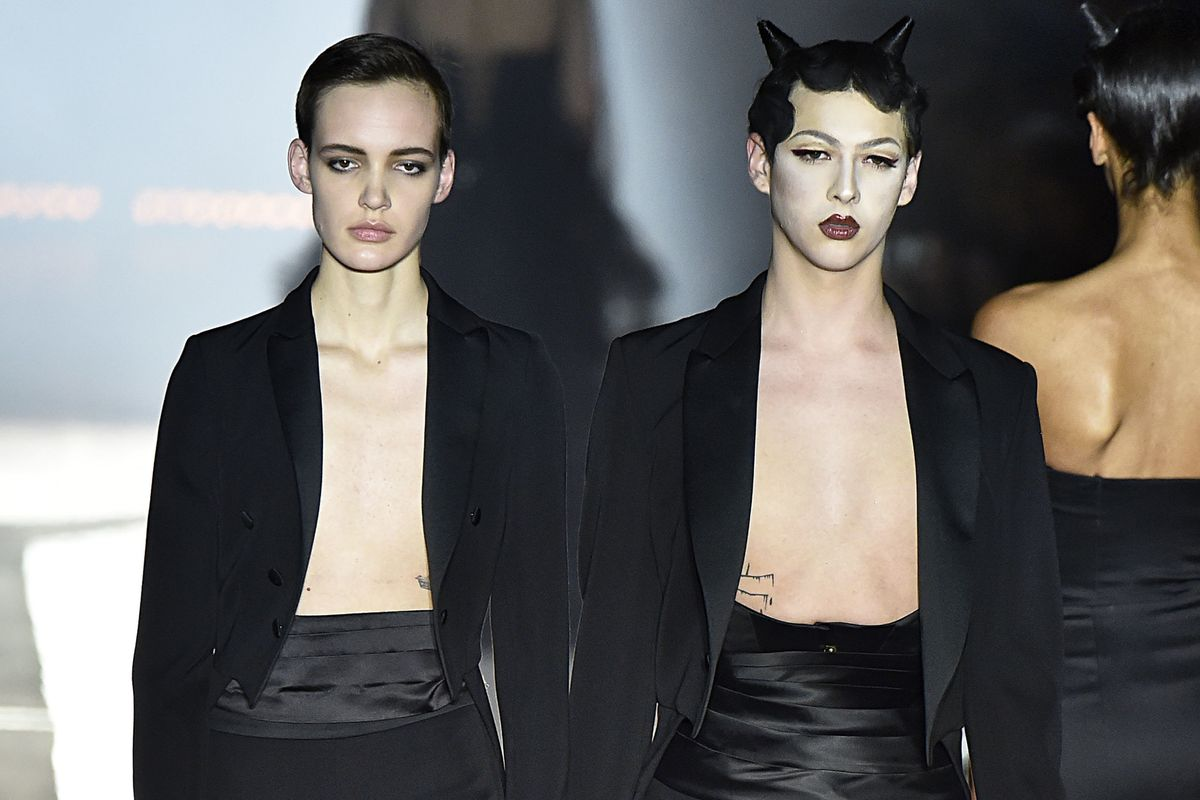 Violet Chachki Closed Kinky Moschino Show in Devil Horns
