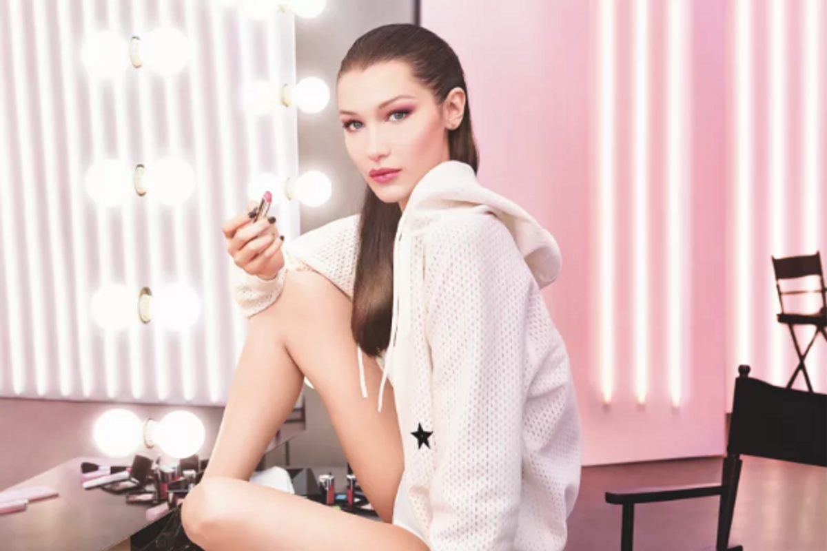 Bella Hadid Plays with New Dior Lip Glow in Cass Bird Video