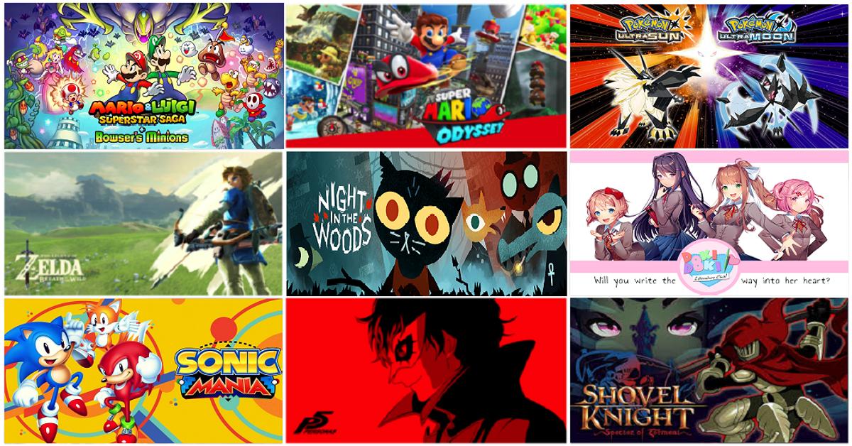 Kody's Top 5 Games of 2017