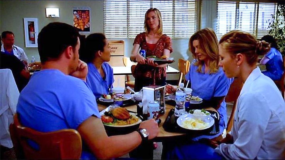 8 Times You'd Rather Be In The E.R. Than Your College Dining Hall, As Told By 'Grey's Anatomy'