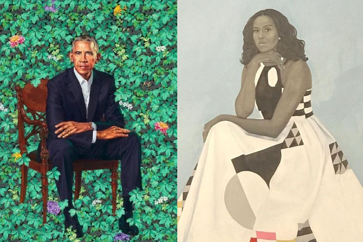 Barack and Michelle Obama's Official Portraits Have Arrived