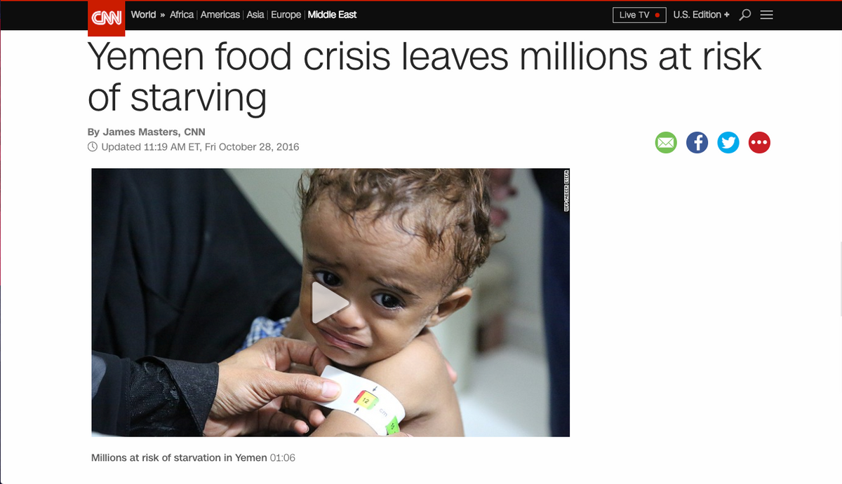 The Yemen Famine in the Media: When the Suffering of Millions Becomes Normalized
