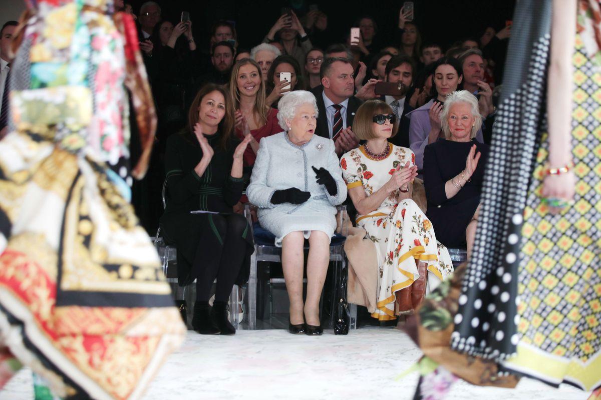 Queen Elizabeth Sat Front Row at London Fashion Week